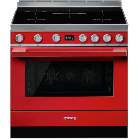 "Centre de cuisson SMEG Pyrolyse Induction 90 cm ""Portofino"""