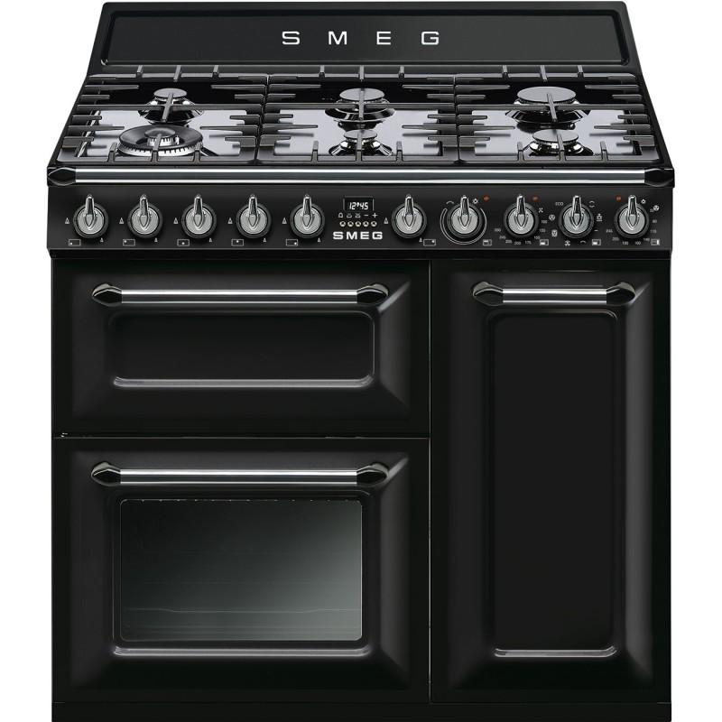 """Centre de cuisson SMEG 90 cm four en hauteur Induction """"Victoria"""""""