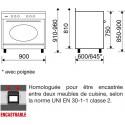 Cuisinière 90cm rustique GLEM GU960CMR