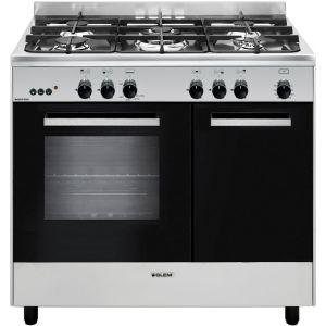 Cuisinière butanette Glem GA960PCGIX 90cm Mixte