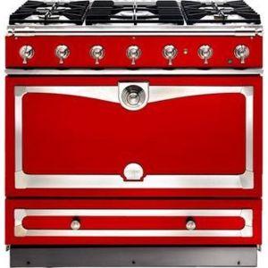 Piano de cuisson La Cornue ALBERTINE 90cm mixte rouge primaire