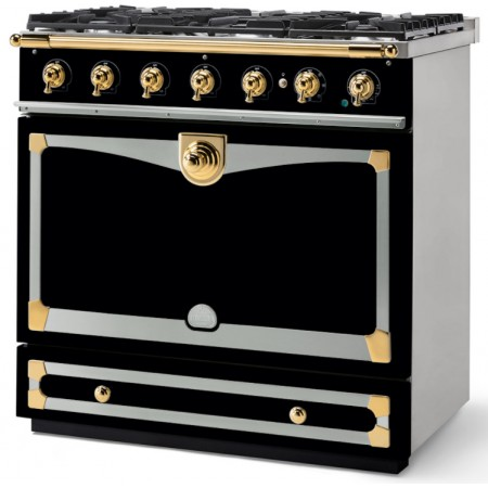 Piano de cuisson La Cornue ALBERTINE 90cm induction noir brillant