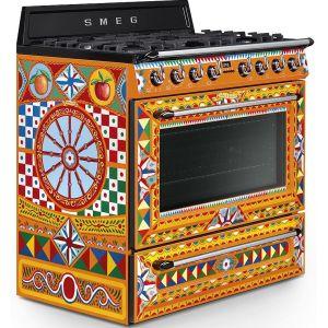 Piano de cuisson Smeg Dolce Gabbana Mixte 90cm